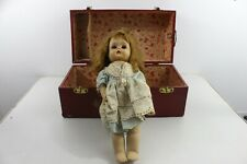"""Antique Vintage """"Horsman"""" Doll With Original Case Toy Chest Doll Collectible"""