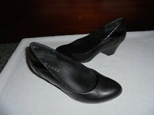 Ziera Kumfs Ladies Black leather shoes size 38 W 7 W Ex Condition