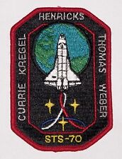 Ricamate patch spaziale NASA sts-70 dello Space Shuttle Discovery... a3105