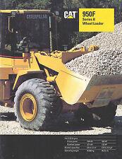 1992 Caterpillar 950F Wheel Loader 20 Page Brochure