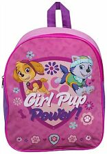 Children Kids Paw Patrol Girl Pup Power Girls Travel Shoulder Backpack