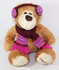 "Mary Meyer Bear Scarf Earmuffs 16"" Plush 2008 Stuffed Animal Lovey Winter"