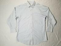 Brooks Brothers Classic Mens Sz 16-32 Blue/Yellow Plaid Button Down Shirt Check