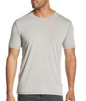 John Varvatos Star USA Men's Short Sleeve Crew Tee Shirt Washed Out Light Grey