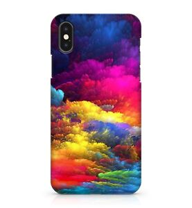 Multi Coloured Rainbow Heavenly Clouds Bursting Explosion Painted Case Cover