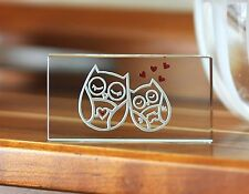 Spaceform Hearts Owls Token Romantic Love Valentines Gift Ideas for Her Him 1839