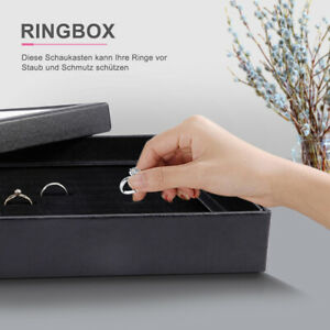 Ringbox Ringdisplay Ringlade für 100 Ringe Ohrringlade Schmuckkasten Schaukasten