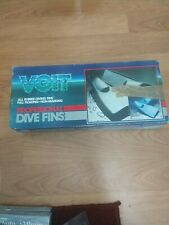 Voit All Rubber Diving Fins In Original Box size 9-11/ pro black -708 used