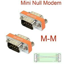 High Quality Mini Null Modem DB9 Male to DB9 Male plug Adapter Gender Changer