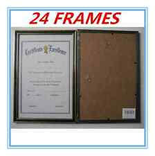 24 x Black with Gold Trim A4 Size Document Certificate Photo Picture Frame AP