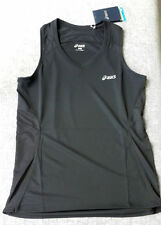 ASICS Womens Motion Dry Elite Tank Top Singlet Blac Size 16 Running
