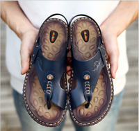 Summer Sandals Men's Non-slip Flip-flops Men's Toe Beach Shoes Free Shipping