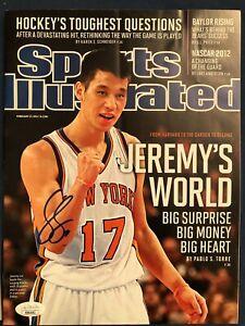 2012 Feb Sports Illustrated Jeremy Lin Signed Autograph Magazine No Label JSA