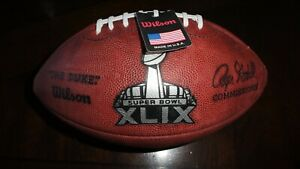 TOM BRADY Signed Full Size Super Bowl XLIX Logo Football PSA DNA STICKER RARE