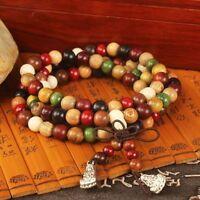 Bracelet Buddha Mala Tibetan Buddhist Wooden Charm Bracelet Redwood Rosary
