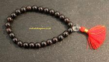 Garnet Japa Mala Bracelet 27 1 Rosary 8 Mm Round Stone Beads Enhances Strength