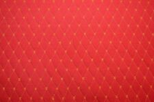 Red Gold Quilted Diamond Upholstery Fabric