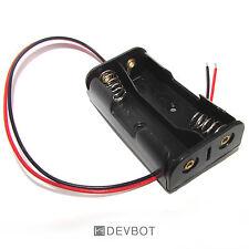 Support 2 Piles AA LR6 avec fils. Boitier, Coupleur, Batterie. DIY, Arduino, Pi