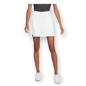 Nike Women's New $70 Victory Dri-Fit Golf Skort White Size XS Standard Fit