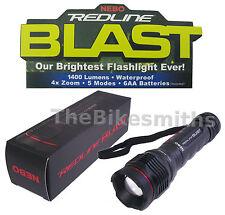 Nebo Redline Blast Flashlight 1400 Lumen 4xZoom Waterproof Tactical Light Blindn