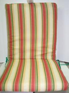 Outdoor Patio Chair Cushion ~ Border Stripe ~ 20 x 44 x 2.5 **NEW**