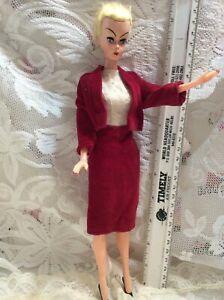 "Vtg barbie Doll clone Blid Lilli Babs Hong Kong hard plastic 11.5"" holes in feet"