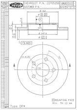 Disc Brake Rotor-LS Rear Magneti Marelli 1AMVR20103