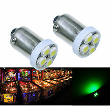 50x #1893 #44 #47 #1847 BA9S 4SMD LED Pinball Machine Light Bulb Green 6.3V P2