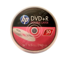 50 discs HP Double Layer DVD+R Logo Branded - Dual Layer, 8X, 8.5 GB, 240 mins
