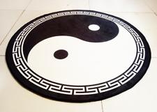 Taoist carpet/yoga rug/door mat,yin and yang meditation,bagua,Taiji,black,0.9m