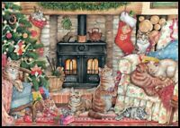 Christmas Cats - Chart Counted Cross Stitch Pattern Needlework Xstitch DIY DMC