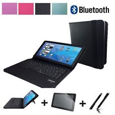 """3in1 Set Bluetooth Tastatur Tablet Hülle für Lenovo Tab4 10 Plus 10.1"""" Schwarz"""