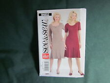 BUTTERICK B4832 MISSES PLEATED BOTTOM DRESS SEWING PATTERN SIZE 8 TO 14