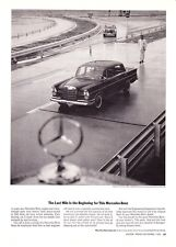 "1964 Mercedes-Benz 300SE Sedan at Test Track photo ""Final Test"" print ad"