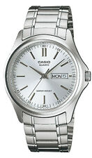 Casio MTP1239D-7A Men's Stainless Steel Silver Dial Analog Day Date Watch