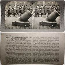 Keystone Stereoview Beefeaters, Tower of London, ENGLAND From RARE 1200 Card Set