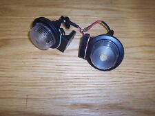 Trailer Parts - Pair of Trailer Rubber Mounted Front Marker Lights - Inc Bulbs