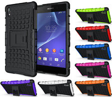 NEW GRENADE GRIP RUGGED TPU SKIN HARD CASE COVER STAND FOR SONY XPERIA Z2 PHONE