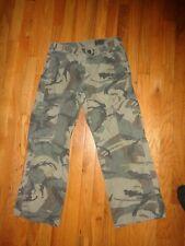 Boys Wrangler Camo Cargo Pants Size 12 Husky Adjustable Waist