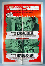1971 Scars of Dracula Christopher Lee One Sheet Combo Movie Poster Hammer Films