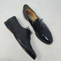 Mens Cole Haan Bragamo Black Leather Oxfords 10.5 D Brogue Cap Toe Lace Up Shoes