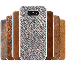 Dessana Leather Pattern TPU Silicone Protective Cover Phone Case Cover For LG