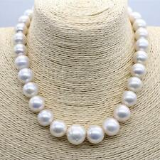 """HUGE 18""""12-15MM NATURAL SOUTH SEA GENUINE WHITE NUCLEAR PEARL NECKLACE  098AA"""