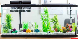 LED Aquarium Hood for 20 to 55 Gallon Fish Tanks Natural Daylight Low Profile