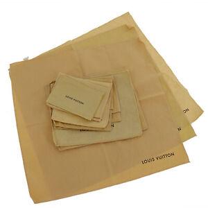 LOUIS VUITTON Dust Bag 10 Set Cream 100% Cotton Italy Authentic #SS281 S
