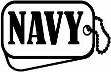 Navy,Navy Life,Dog Tags,Military,Threeper,3%,Stickers,Vinyl Decal