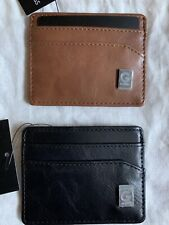 Guess MENS ATM CREDIT CARD CASE Soft Leather Like BNWT
