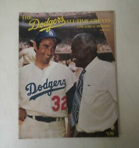 Vintage 1970 DODGERS ALL-TIME GREATS Pictorial History MLB Baseball souvenir