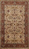 Vegetable Dye Agra Floral Traditional Oriental Area Rug Hand-knotted Wool 4'x6'
