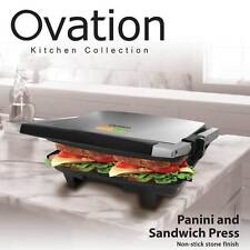 Electric Panini and Sandwich Press Maker Toaster Stainless Steele Stone Finish